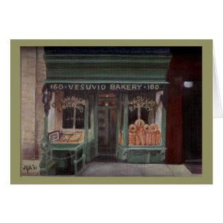 Panadería NYC de Vesuvio Tarjeton