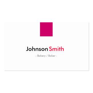 Panadería/panadero - rosa color de rosa simple tarjetas de visita