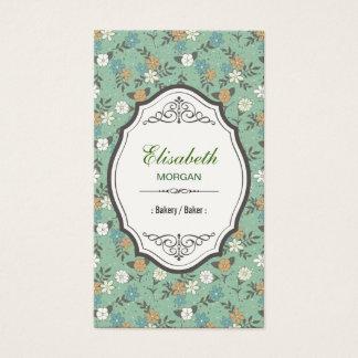 Panadería/panadero - vintage elegante floral tarjeta de negocios