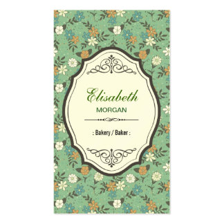 Panadería/panadero - vintage elegante floral tarjetas de visita