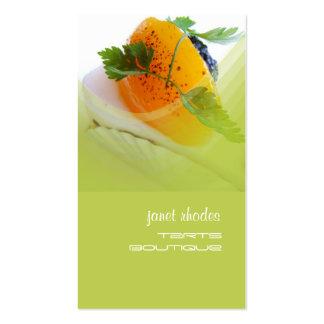 Panadería, plantilla de las tarjetas de visita de