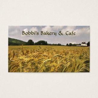 Panadería y café tarjeta de negocios