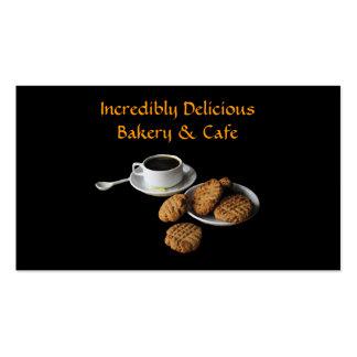 Panadería y café tarjetas personales