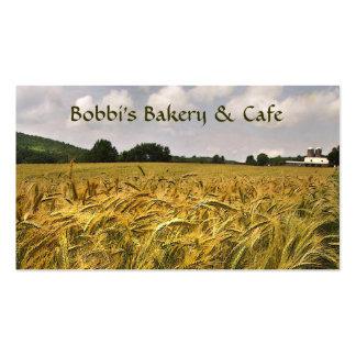 Panadería y café plantillas de tarjeta de negocio