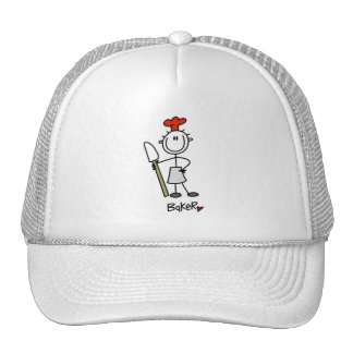 Panadero con el raspador gorras