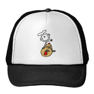 Panadero con las camisetas y los regalos del rodil gorras