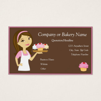 Panadero de la magdalena/tarjeta de visita tarjeta de visita