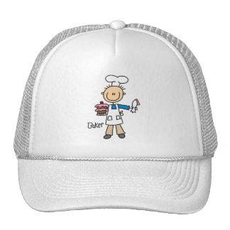 Panadero de sexo masculino gorras