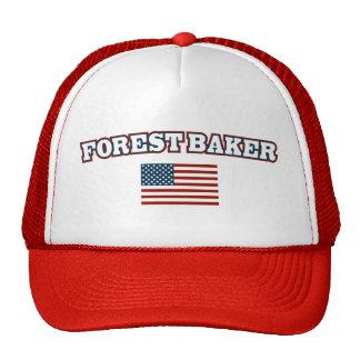Panadero del bosque para América Gorras