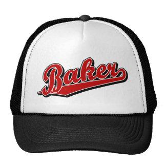 Panadero en rojo gorras