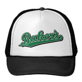 Panadero en verde gorra