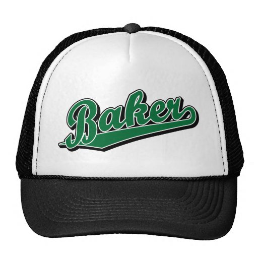 Panadero en verde gorras