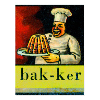 Panadero holandés del bak-ker del alfabeto del kit tarjetas postales