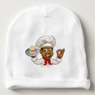 Panadero o chef de repostería negro del dibujo gorrito para bebe