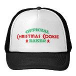 Panadero oficial de la galleta del navidad gorra