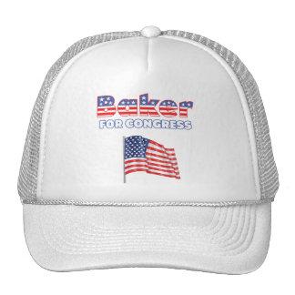 Panadero para el diseño patriótico de la bandera a gorras