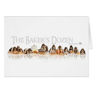 Panaderos docena perritos de Basset Hound Tarjeta De Felicitación
