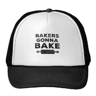 Panaderos que van a cocer la camisa gorras