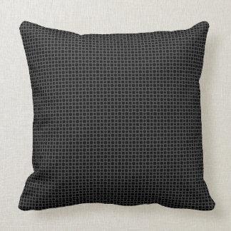 Panal abstracto negro y gris cojín decorativo