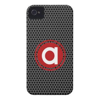Panal con el solo monograma de la letra iPhone 4 Case-Mate cobertura