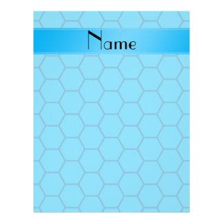 Panal conocido personalizado del azul de cielo folleto 21,6 x 28 cm
