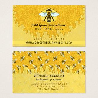 Panal de las abejas de la granja de la abeja del tarjeta de visita