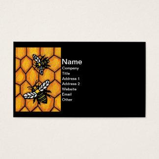Panal lindo de zumbido de las abejas tarjeta de negocios