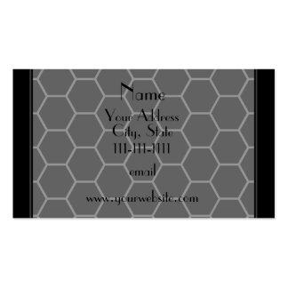 Panal negro conocido personalizado tarjetas de visita