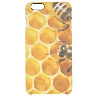 Panal y diseño del modelo de las abejas funda transparente para iPhone 6 plus