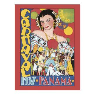 Panamá Carnaval 1937 Postal