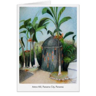 Panamá ilustró el espacio en blanco de la tarjeta