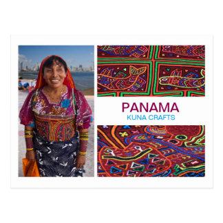 Panamá Kuna hace la postal a mano