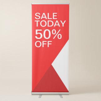 Pancarta Retráctil La venta de encargo vende hoy rojo del vector al