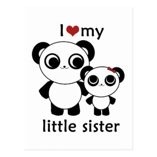 Panda - amor de I mi pequeña hermana Postal