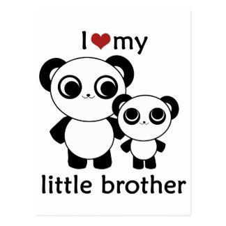 Panda - amor de I mi pequeño hermano Postal