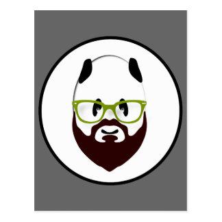 Panda barbuda postales