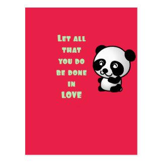 Panda con cita inspirada postal