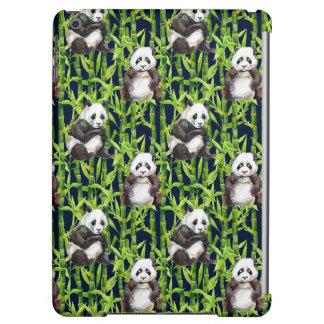 Panda con el modelo de bambú de la acuarela