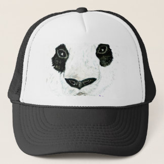 Panda con las flores gorra de camionero