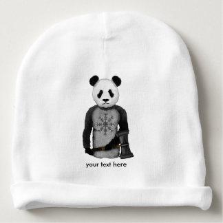 Panda con un martillo de la guerra de Viking Gorrito Para Bebe