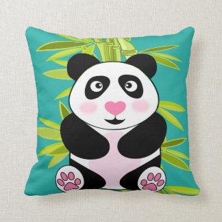 Panda de bambú cojín