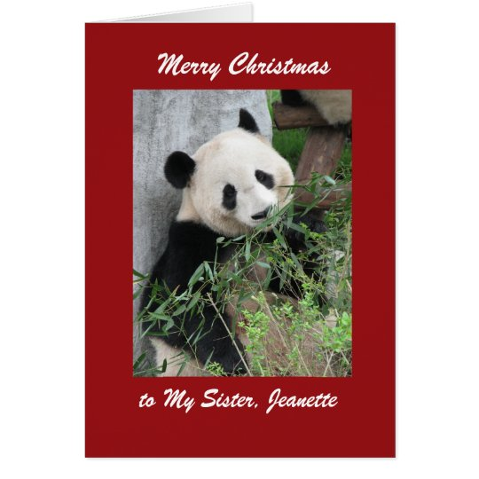 Panda de la tarjeta de felicitación de las Felices