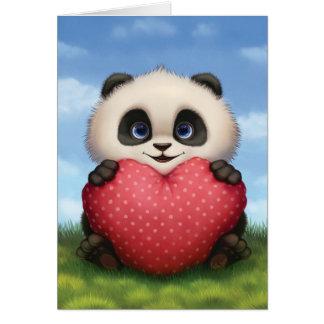 Panda de la tarjeta del día de San Valentín