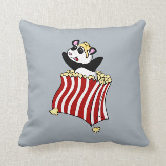 ¡Panda de las palomitas! Cojín Decorativo