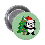 Panda de Papá Noel Pin