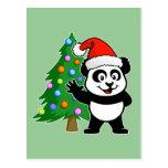 Panda de Papá Noel Postal
