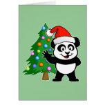 Panda de Papá Noel Tarjetón