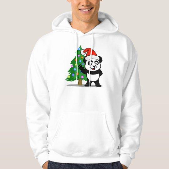 Panda de Santa (camisetas ligero) Sudadera