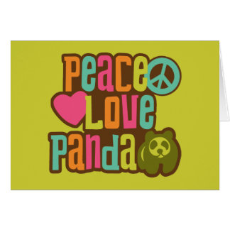 Panda del amor de la paz tarjetón