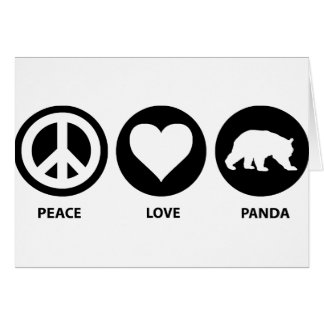 Panda del amor de la paz felicitaciones